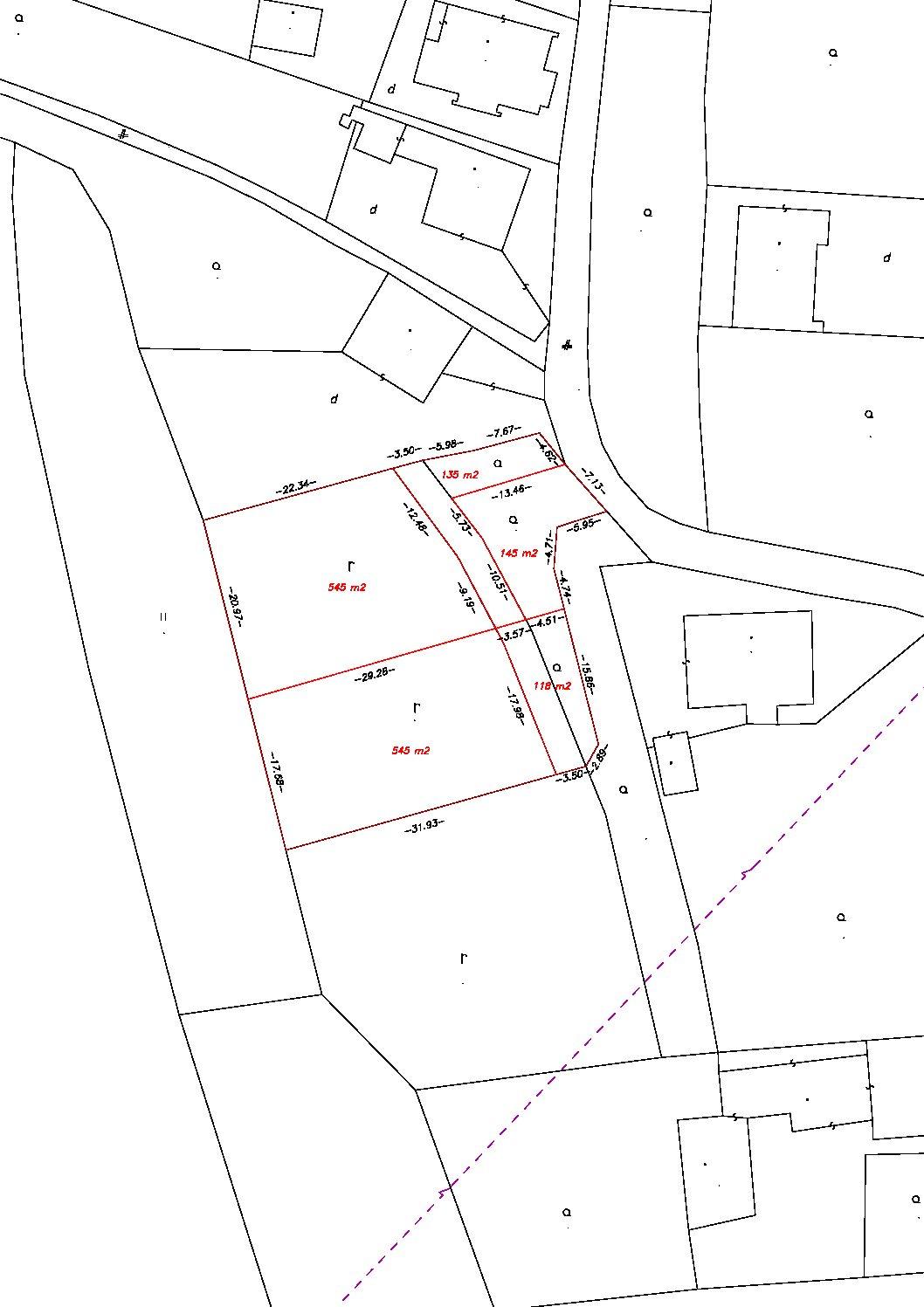Predaj Stavebného pozemku na výstavbu rodinného domu o výmere 545m2.